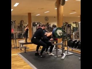 Вилма Олссон, приседания 170 кг на 3 раза