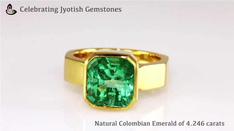 Natural Colombian Emerald 4,246ct in 22K Gold Ring Kurvinipuh K GEMS GIA GEMS Moscow