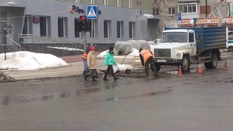 Ремонт дорог кирпичами в Димитровграде