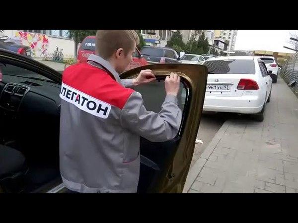 Автошторки на Рено на магнитах установка