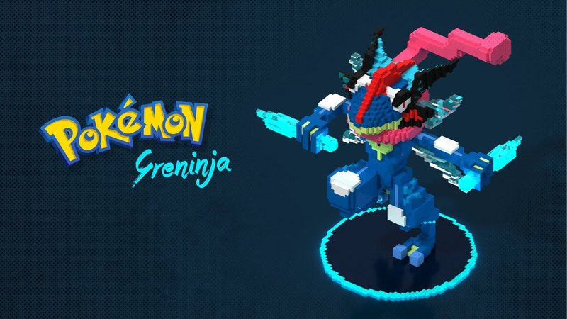 Pokemon in Voxel Art - Greninja