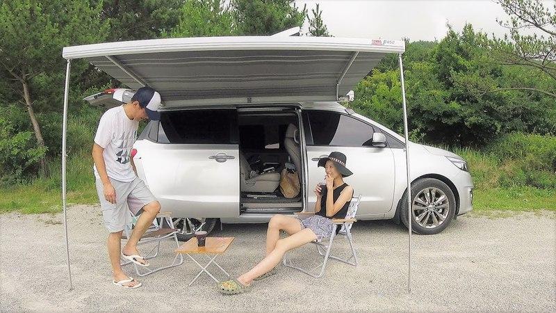 처음으로 차박캠핑카로 캠핑을 했어요 그리고 튜비 업데이트 소식- 차박 캠546