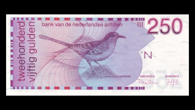 All Netherlands Antillean Guilder Banknotes_1986 to 1994 Birds Issue