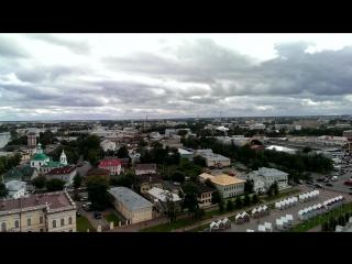 Вологда с высоты 72 метра.