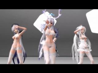 Sexy Haku Dance [MMD R18]. Part 1