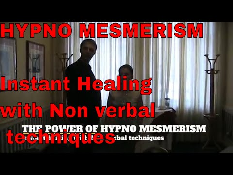 The power of Hypno Mesmerism, Instant hypnosis healing, Non verbal techniques, legs arm catalepsy!