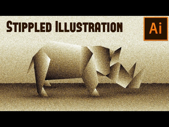 How to create Stippled Illustration in Adobe Illustrator Tutorial (HD recommended)