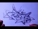 Graffiti sketch 2 semi wildstyle 3D with shading 'Firth'