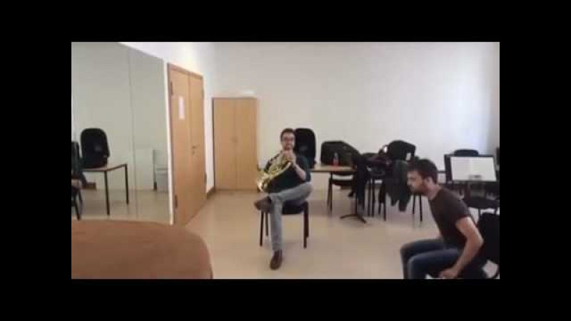 Duet for French Horn and chair