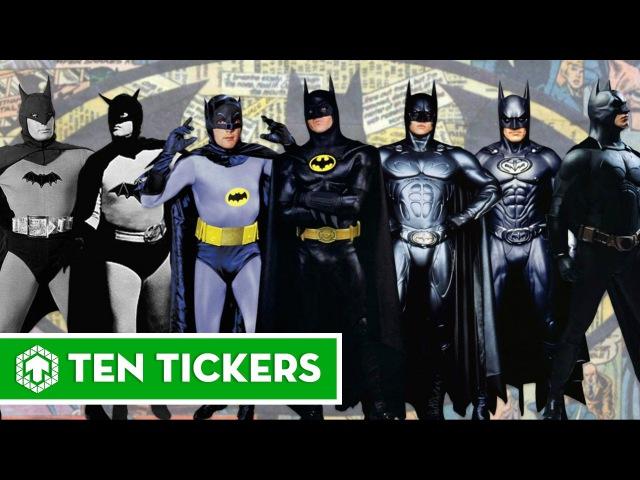 Batman Through Years 1943, 1949, 1989, 1992, 1995, 2005, 2008, 2012, 2016