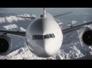 ✈Boeing 777 above Swiss Alps✈