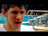 Part of my interview with some 15-year- old local swimmer and his coach from 2001