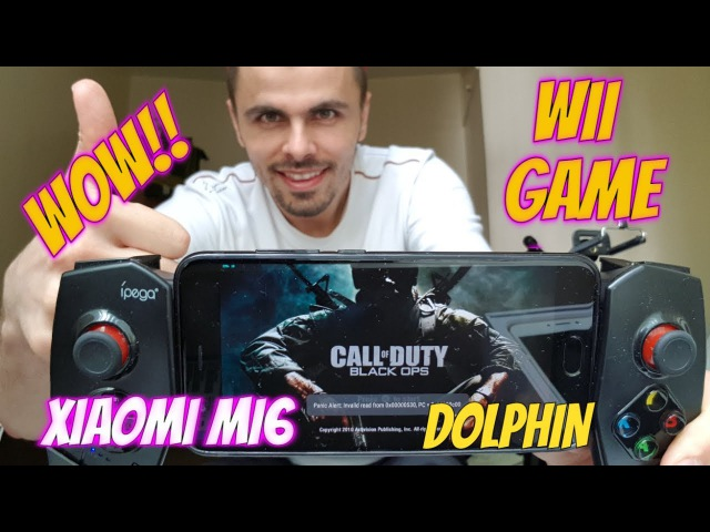 Gameplay Call of Duty: Black Ops Android Smartphone Wii Game Emulator Dolphin test