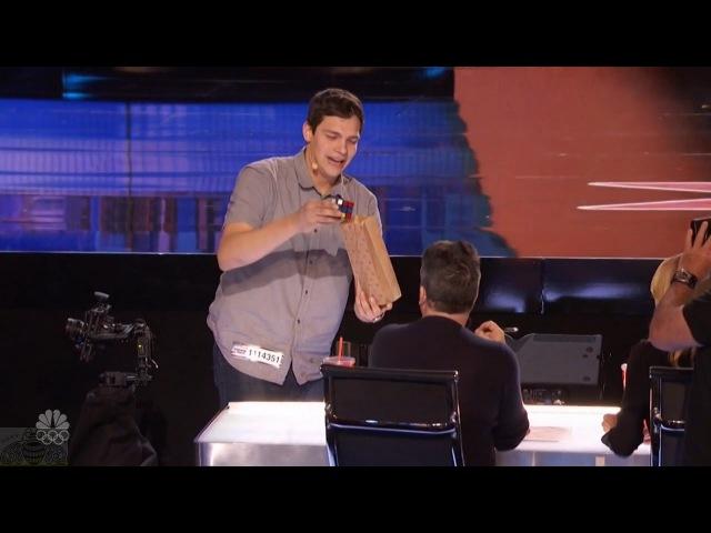 America's Got Talent 2016 Steven Brundage Seen Rubik's Cube Magic Not Like This Full Audition Clip