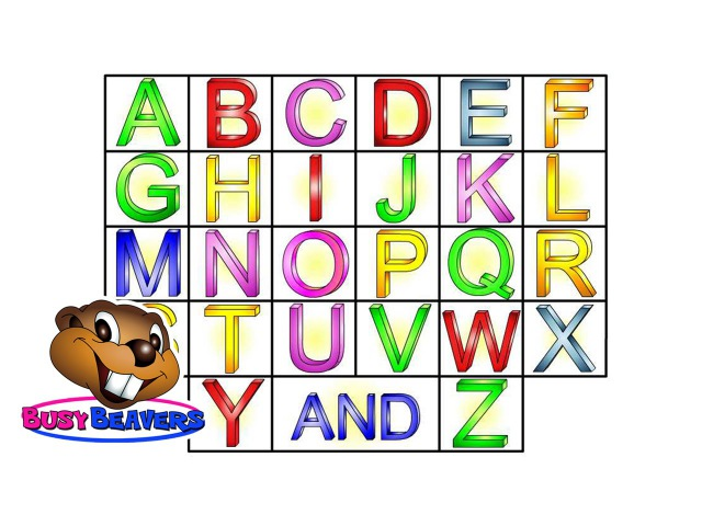 """The Alphabet Song"" (Level 1 English Lesson 04) CLIP – Sing Busy Beavers ABC Song, Baby Learning"
