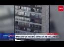 Haitiano salva en brazos a una mujer que cayó del noveno piso