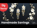 How to Make DIY Bridal Earrings. Easy Quick Wedding Pearl Earrings [Eng Subs]