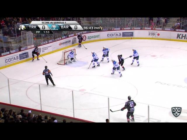 Моменты из матчей КХЛ сезона 16/17 • Гол. 1:0. Алексей Кручинин (Трактор) отправил шайбу под перекладину 24.02