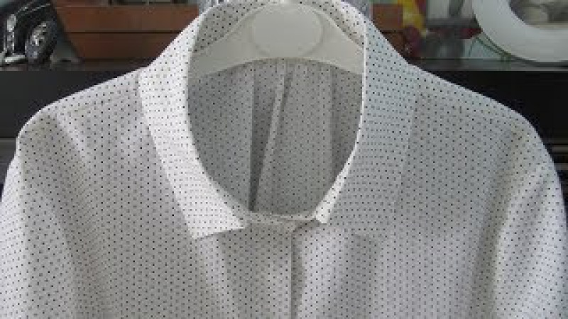 Шью блузку из журнала Patrones Обработка воротника обработка стойки воротника и супатной застежки