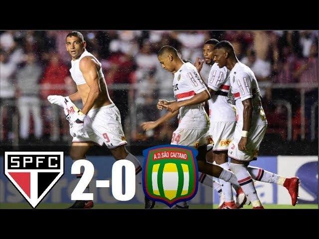 São Paulo 2 x 0 São Caetano - SPFC CLASSIFICADO ! Gols Melhores Momentos - Paulistão 2018