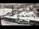 EPIC! Crazy Car Pileup in Montreal. Bus Police and Snowplow!