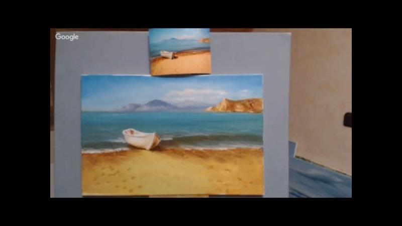 Людмила Гиттель Теплый пляж, живопись маслом.