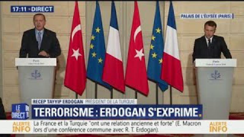 Tu ne parles pas comme un journaliste Quand Erdogan répond sèchement en conférence de presse