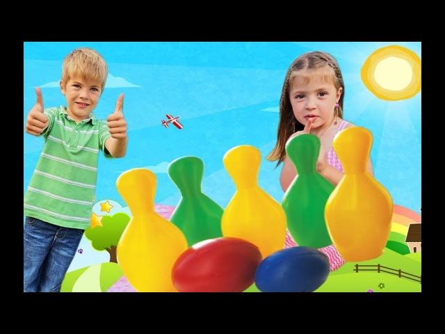 Learn colors with bowling balls Colours for kids toddlers and children