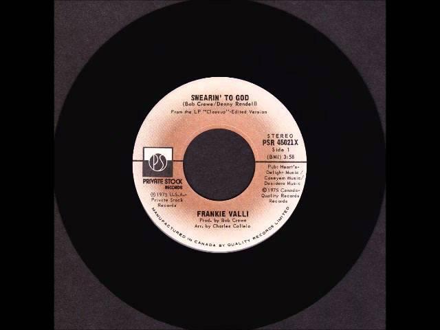 Frankie Valli - Swearin To God - 1975