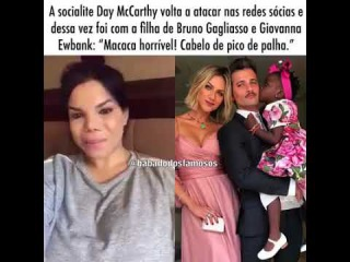 Day MCcarthy, chamou a Titi (filha de Bruno Gagliasso e Giovanna Ewbank) de