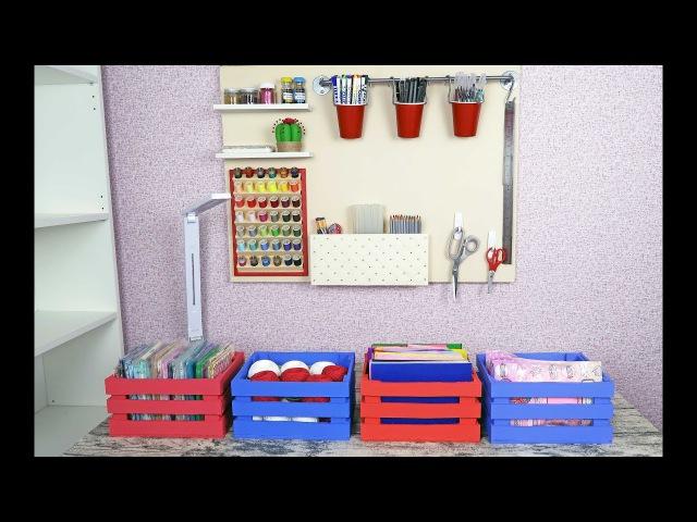 Новая организация рабочего места Часть 2 DIY Органайзеры из картона и фанеры
