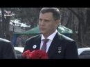 Делегация ДНР возложила цветы к памятнику Народному ополчению всех времен в Симферополе