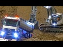 RC Truck Action at The Stonebreaker-Area! MB Arocs! Scania! MAN! Liebherr! Komatsu!