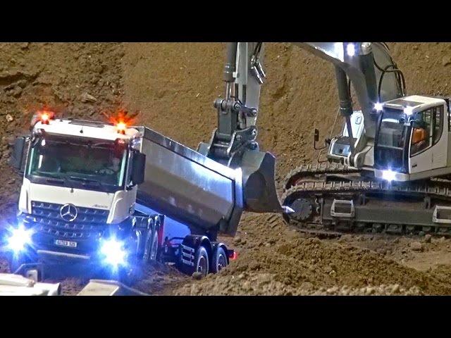 RC Truck Action at The Stonebreaker-Area! MB Arocs! Scania! MAN! Liebherr! Komatsu!