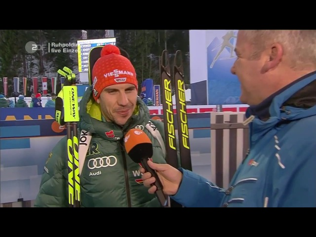 Ruhpolding-2018. Comments from Arnd Peiffer, Simon Schempp and Roman Rees after individual race