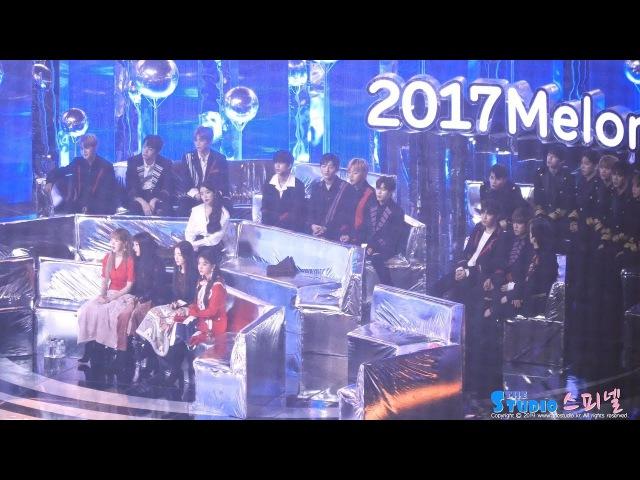 171202 아이유 레드벨벳 워너원 봄날 리액션 직캠 Red Velvet WannaOne Spring Day Reaction fancam by Spinel