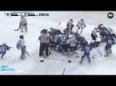 Комментатор от бога Массовая драка детских команд по хоккею