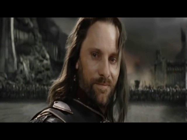 Lord Sauron VS Aragorn Full Scene