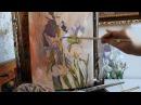 Натюрморт Ирисы . Видеоурок. Учимся рисовать