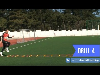 Football coaching video - soccer drill - ladder coordination (Brazil) 4