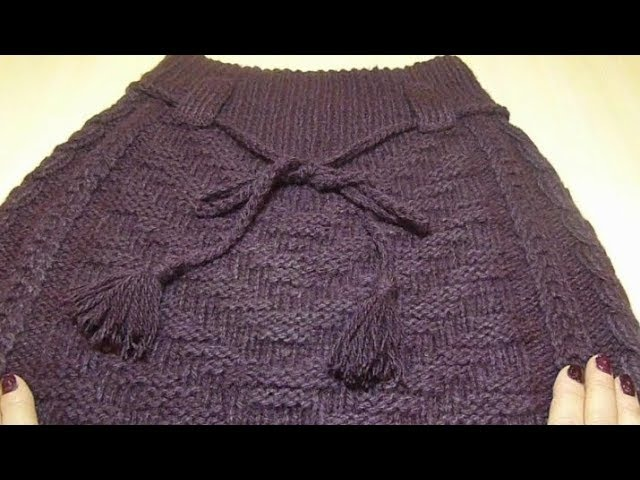 Юбка с косами, спицами.Вязание, Crochet And Knitting
