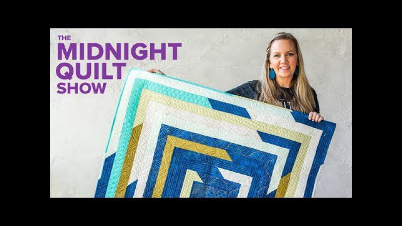 Angela's Shattered Frames Stashbusting Strip Quilt Midnight Quilt Show with Angela Walters
