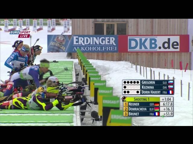 Чемпионат мира 2012 Рупольдинг Германия Женщины Гонка преследования 10 км Eurosport HD 04 03 2012 г , Биатлон, 1080i, HDTV