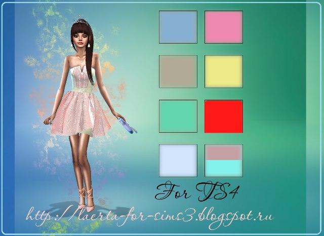 TS4 Light dress by KarinaRunda