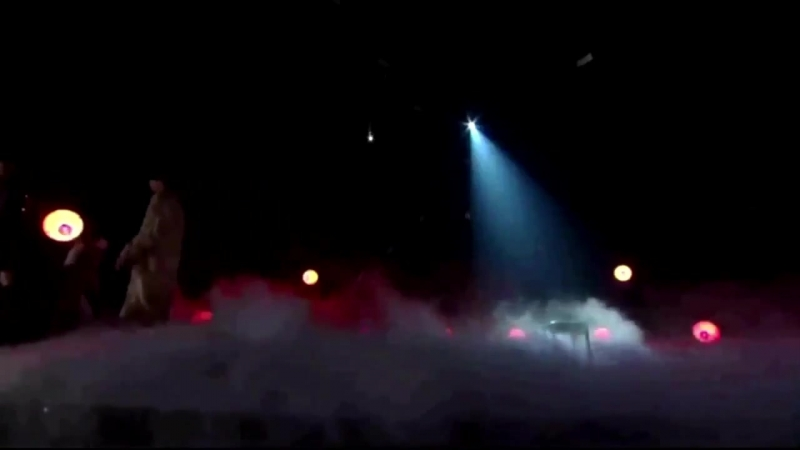 Taehyung [blows on the smokeclouds] - jungkook ok they just laid out all the clouds on the stage what are you doing - jungkook h