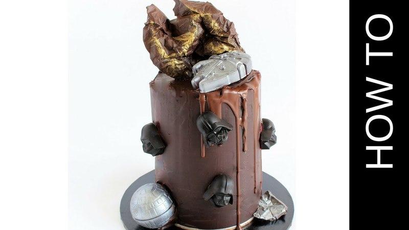 Star Wars Cake Layered with Caramel Cheesecake!