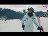 Алла Довлатова катается на горных лыжах