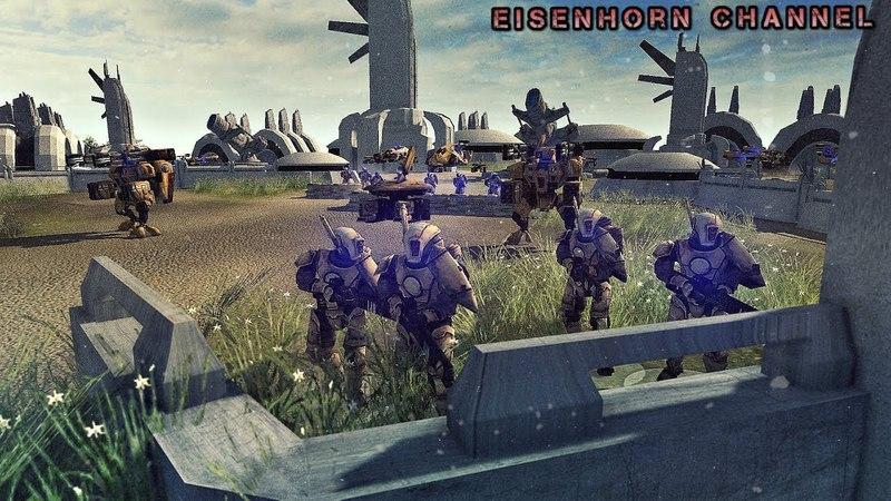 Men of war 2 Ultimate Mod Warhammer 40k Epic Battle - Tau VS Imperial Guard