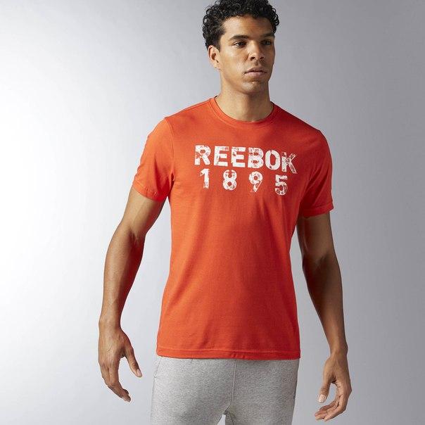 Футболка с принтом REEBOK TAPE TEE