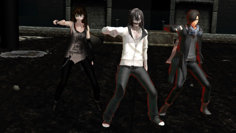 (MMD) Clokwork, Jeff the killer and Liu